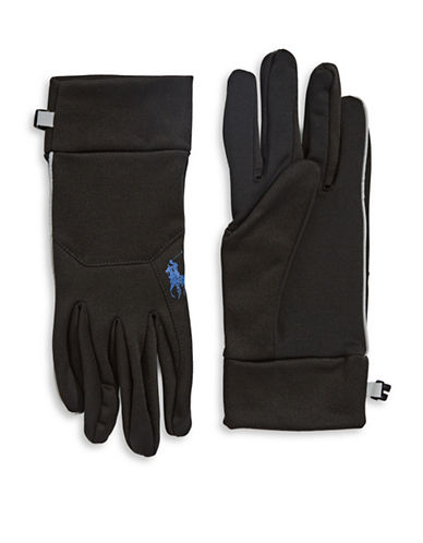 Polo Ralph Lauren Sport Fleece Touch Gloves-BLACK-Large/X-Large 88523490_BLACK_Large/X-Large