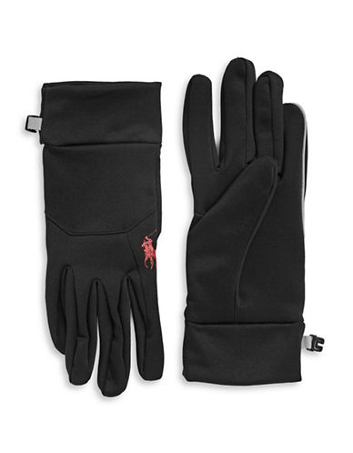 Polo Ralph Lauren Sport Fleece Touch Gloves-BLACK-Large/X-Large 88523492_BLACK_Large/X-Large