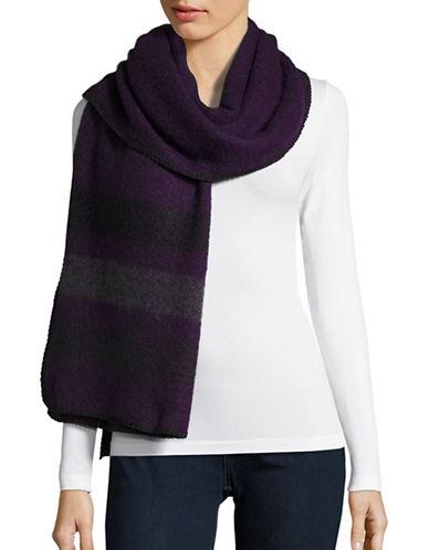 Lauren Ralph Lauren Adirondack Stripe Blanket Scarf-PURPLE/BLACK-One Size