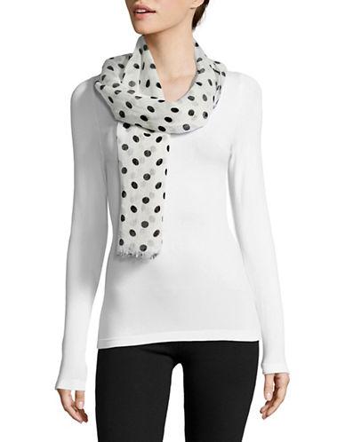 Lauren Ralph Lauren Ramie-Blend Dot Scarf-WHITE-One Size