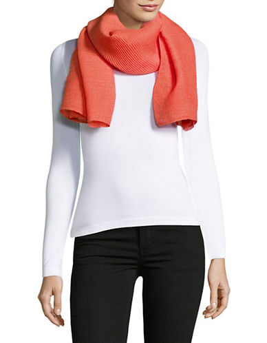 Lauren Ralph Lauren Pleated Oblong Scarf-ORANGE-One Size
