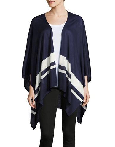 Lauren Ralph Lauren Striped Ruana-NAVY-One Size