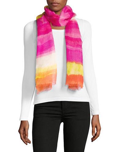 Lauren Ralph Lauren Tie Dye Striped Wrap-PINK-One Size