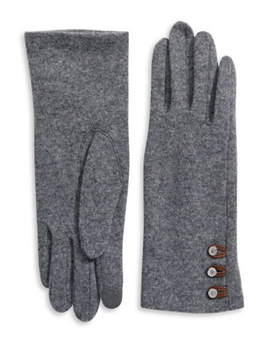Lauren Ralph Lauren Touchscreen Cashmere Blend Gloves-GREY HEATHER-Medium