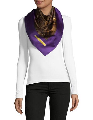 Lauren Ralph Lauren Silk Buckle Print Square-PURPLE-One Size