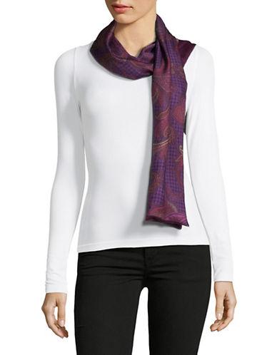Lauren Ralph Lauren Silk Oblong Scarf-PURPLE-One Size