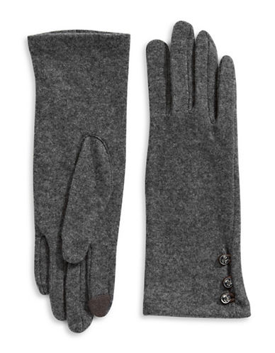 Lauren Ralph Lauren Classic Touch Gloves-GREY-Medium