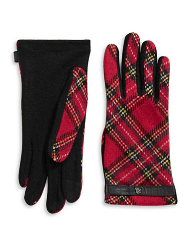 Lauren Ralph Lauren Monogram Touch Gloves-RED-X-Large