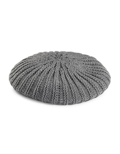 Lauren Ralph Lauren Chunky Garter Stitch Beret-GREY-One Size 89297737_GREY_One Size