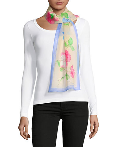 Lauren Ralph Lauren Floral-Print Oblong Silk Scarf 89728332