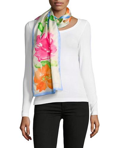 Lauren Ralph Lauren Floral-Print Oblong Silk Scarf 89728335