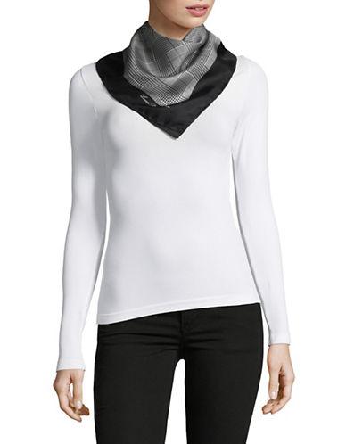Lauren Ralph Lauren Silk Houndstooth Square-BLACK-One Size