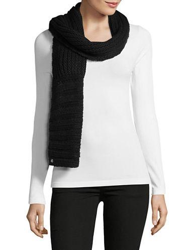 Lauren Ralph Lauren Chunky Garter Stitch Scarf-BLACK-One Size