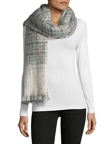 Lauren Ralph Lauren Boucle Textured Check Scarfs-GREY-One Size