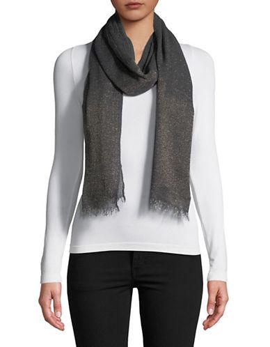 Lauren Ralph Lauren Wool-Blend Fringe Wrap Scarf-BLACK-One Size