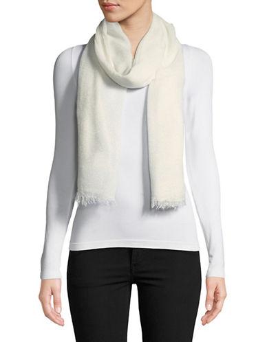 Lauren Ralph Lauren Wool-Blend Fringe Wrap Scarf-CREAM-One Size
