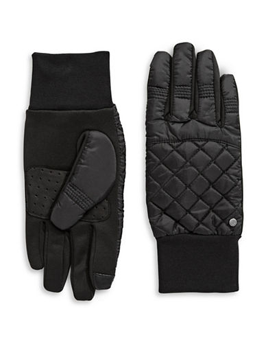 Lauren Ralph Lauren Diamond Quilt Touch Gloves-BLACK-X-Large