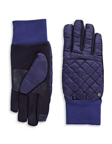 Lauren Ralph Lauren Diamond Quilt Touch Gloves-BLUE-Large