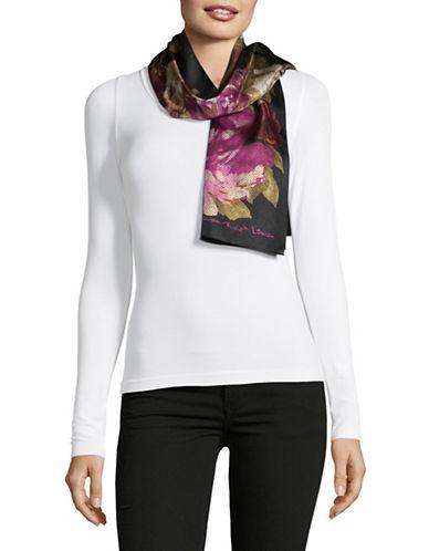 Lauren Ralph Lauren Silk Oblong Scarf-BLACK-One Size