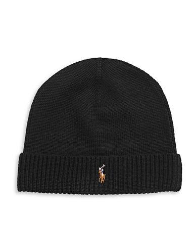 Polo Ralph Lauren Merino Wool Tuque-BLACK-One Size