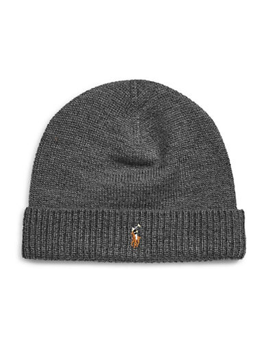 Polo Ralph Lauren Merino Wool Tuque-CHARCOAL-One Size