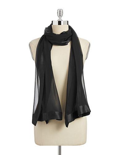 Echo Silk Chiffon Border Scarf-BLACK-One Size
