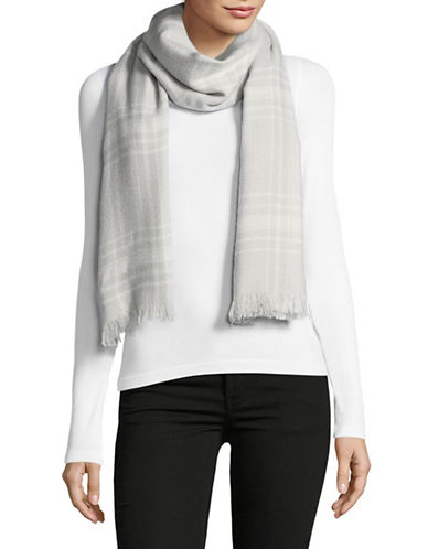 Lauren Ralph Lauren Plaid Wrap-GREY-One Size