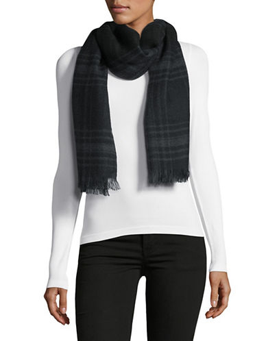 Lauren Ralph Lauren Plaid Wrap-BLACK-One Size