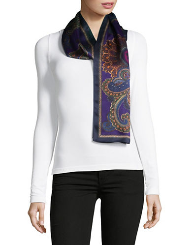 Lauren Ralph Lauren Silk Oblong Scarf-PURPLE-One Size
