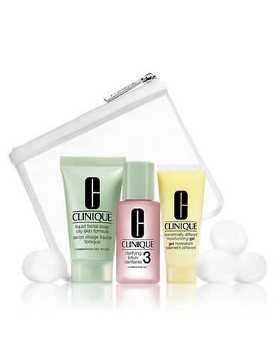 Clinique Three-Piece 3-Step Trial Kit for Skintypes 3 and 4-NO COLOR-One Size