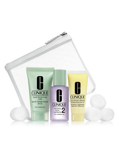 Clinique Three-Piece 3-Step Trial Kit for Skintypes 1 and 2-NO COLOR-One Size