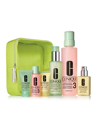 Clinique Great Skin Home and Away For Oilier Skin Six-Piece Set-NO COLOR-One Size