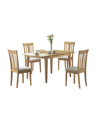 Monarch Expandable Dining Table with Leaf-NATURAL-One Size