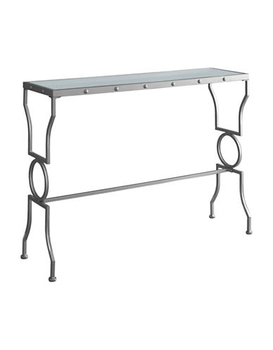 Monarch Geometric-Base Console Table-SILVER-One Size
