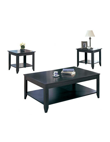 Monarch Three-Piece Tiered Coffee and End Tables Set-CAPPUCCINO-One Size