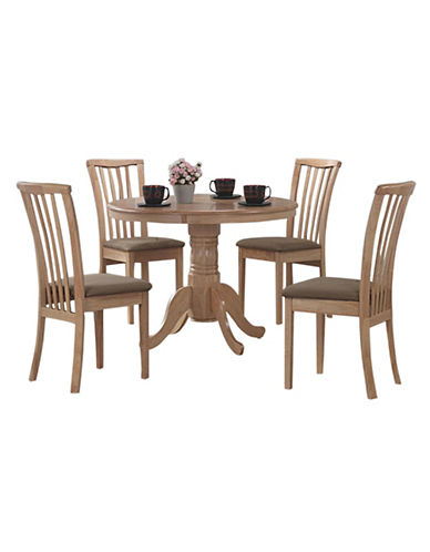 Monarch Armless Rubber Wood Dining Chair-NATURAL-One Size