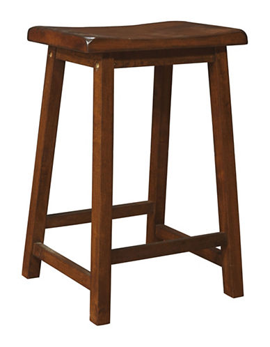 Monarch 24 Inch Saddle Seat Barstools Set of Two-BROWN-One Size