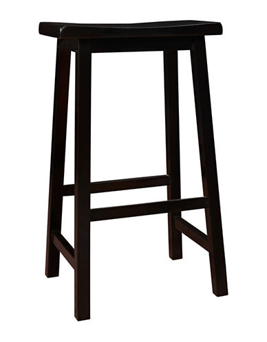 Monarch 29 Inch Saddle Seat Barstools Set of Two-BLACK-One Size