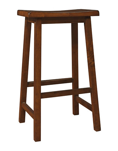 Monarch 29 Inch Saddle Seat Barstools Set of Two-BROWN-One Size