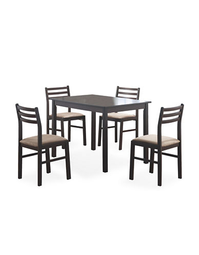 Monarch Five-Piece Cappuccino Veneer Dining Set-CAPPUCCINO-One Size