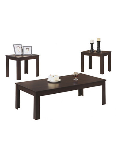 Monarch Three-Piece Coffee and End Tables Set-CAPPUCCINO-One Size