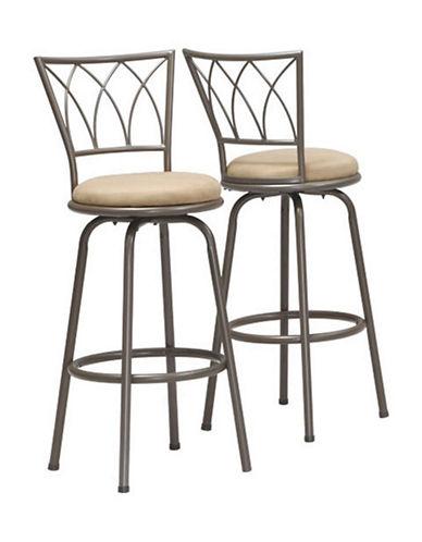 Monarch Set of Two Swivel Barstools-DARK COFFEE-One Size