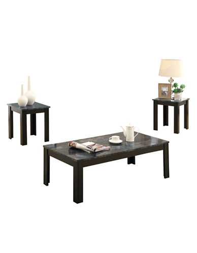 Monarch Three-Piece Accent Table Set-BLACK/GREY-One Size