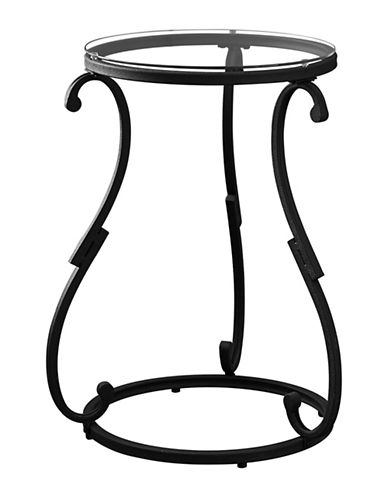 Monarch Hammered Metal Side Table-BLACK-One Size