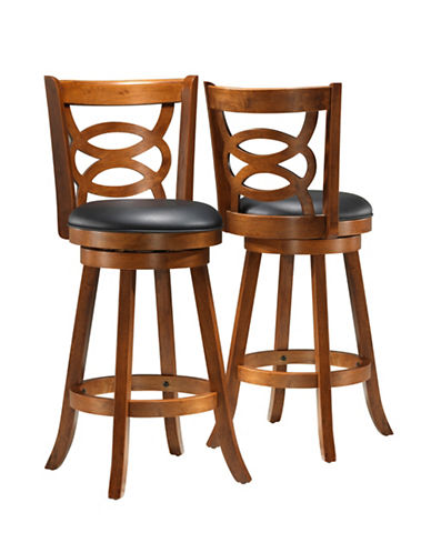 Monarch Two-Piece Interlock-Back Bar-Height Stools-BROWN-One Size