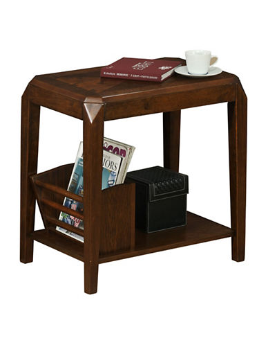 Monarch Brown Oak Accent Table-BROWN-One Size