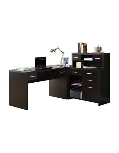 Monarch Corner Computer Desk-BROWN-One Size