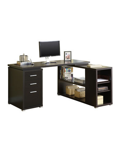 Monarch Left or Right-Facing Computer Desk-CAPPUCCINO-One Size
