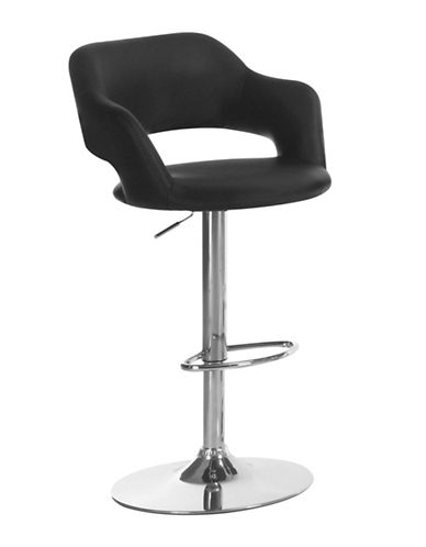 Monarch Contemporary Cut-Out Barstool-BLACK-One Size
