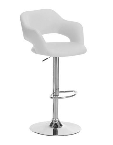 Monarch Contemporary Cut-Out Barstool-WHITE-One Size